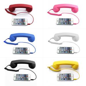 3.5mm Rétro Combiné Téléphone Anti-Rayonnement Cellulaire Récepteur Microphone Écouteur pour iPhone Mobile Téléphone et Tablettes LIVRAISON RAPIDE
