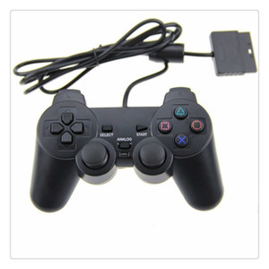 Großhandelspreis Wired Controller para für PS2 Joystick Gamepad Für Spielkonsole Playstation 2 Schwarz Heißer Verkauf