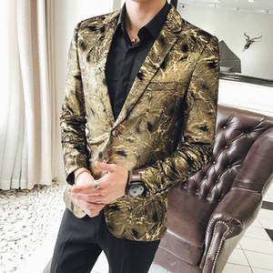 Lüks Altın Kulübü Parti Blazer Erkekler 2018 Kadife Blazer Hombre Iş Rahat Düğün Suit Ceket 2 Buon Tasarımcı 5xl