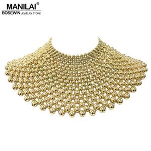 En gros Marque Indien Bijoux Main Perlé Déclaration Colliers Pour Femmes Collier Collier Perles Choker Maxi Collier De Robe De Mariage