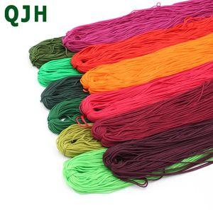 QJH Hand Crochet Line Hilo Hilo de Nylon Hueco Para Chino Cierres de nudo Zapatillas Bolsas Cojín Línea de Muñeca Hilo de seda Tejido ligero