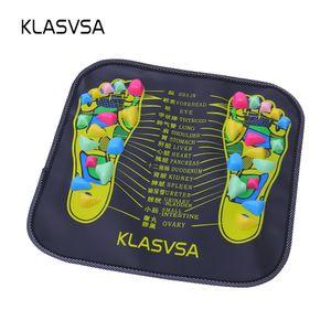 KLASVSA Reflexzonenmassage Fuß Stein Fuß Bein Schmerzlinderung Fußmassagegerät Matte Gesundheitswesen Akupressurmatte Pad massageador