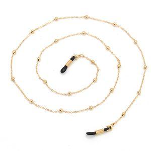 Gold Silber Kugel Perlen Kette Brillen Ketten Sport Lesebrille Sonnenbrille Strap Cord Halter Neck Stirnband Zubehör