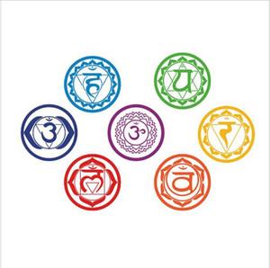 شحن مجاني الشاكرات ملصقات الفينيل (مجموعة من 7 أجزاء)-الصحة اوم التأمل اليوغا om التأمل رمز الفن جدار الشارات الرئيسية الديكور