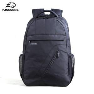 Bolsas portátil de Kingsons Mochila Negro Hombres Bagpack mujeres clásicas 's escuela de la mochila para los adolescentes