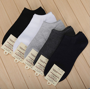 Hot Sale 10 pairs Men's short boat socks  high quality polyester breathable casual 3 Pure Color sock for men free shipping