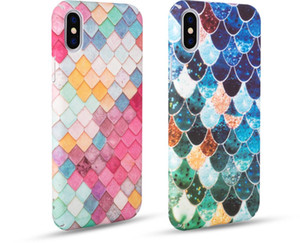Fashion Phone Case For IphoneX,Iphone 7,iphone8,Iphone 7PLUS 8PLUS,The Fish Scales PC Material Anti-fall Cell Phone Case.