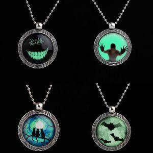 2018 새 패션 Steampunk Noctilucence 박쥐 목걸이 고양이 Simle Necklace Dark Pendant 목걸이 할로윈 선물용 목걸이