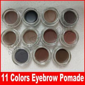 11 colores Crema de pomada de ceja Mejoradores de ceja a prueba de agua Crema Maquillaje de tamaño completo con caja al por menor DHL Gratis