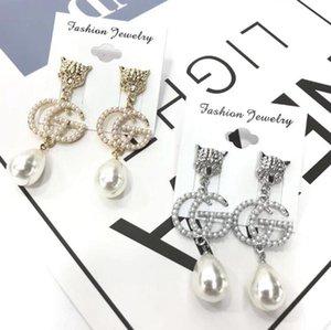 2019Top Qualität Baumeln Ohrring Frauen Designer Perle Ohrring Berühmte Europäische Marke Hochwertige Schmuck GiftA28