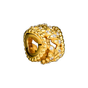 Pandulaso Shine Dazzling Grain Swirls Beads For Jewelry Making Fit Charms 925 Silver Bracelet & Bangle Fashion Jewelry Autumn Collection