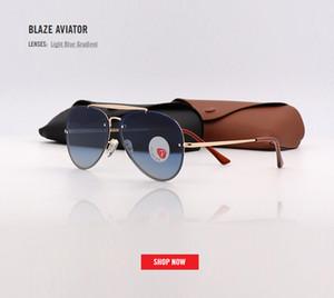 2018 neue blaze spiegel nieten sonnenbrille männer frauen markendesign qualität polarisierte metall sonnenbrille reisenden oculos de sol homem 3584 gafas