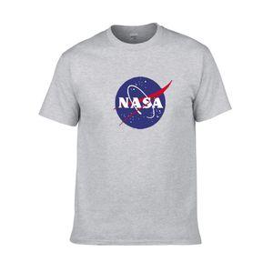 Pamuk yuvarlak yaka yarım kollu kazak spor ceket Amerikan astronot NASA Galaxy toprak baskı T Shirt