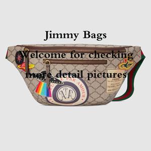 Courrier Series Haute Qualité toile ceinture sac hommes jour embrayage occasionnel UFO et tête de tigre modèle taille sac de taille sac à main sac à bandoulière sac à main