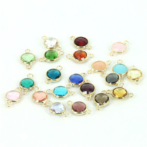 50pcs Mixed Crystal Quartz Faceted  8mm Round Colorful Glass Crystal Pendant DIY Jewelry Making & Bracelet & Necklace