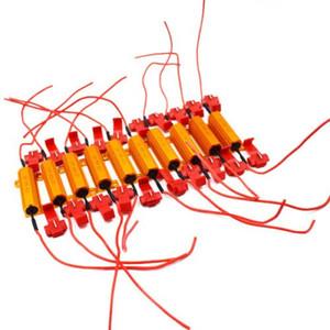 10 PCS 12 V 50 W Resistências de carga Fix LED Lâmpada Fast Hyper Flash Sinal de Blinker Recém
