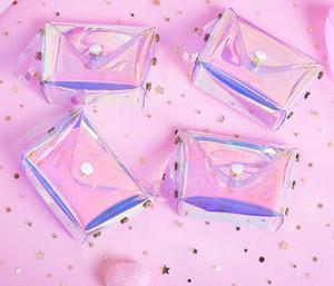 투명 한 동전 지갑 여성 작은 지갑 여성 변경 지갑 미니 어린이 지갑 지갑 키 카드 홀더 PVC 손 가방