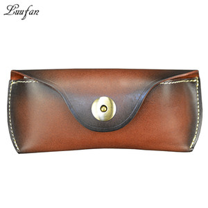 Unisex Genuine Leather Glasses Case Box Vegetable Tanned Leather Handmade Sunglass Holder gift beautiful Eyewear Accessories