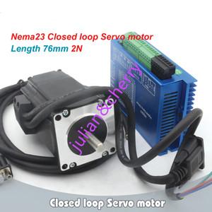 CNC Kit Nema23 76mm 2N.m مغلق محرك سيرفو موتور 3A HSS57 2-Phase سائق هجين