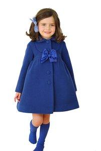 Мода зимняя куртка для девочек осень весна дети Куртки пальто девочка верхняя одежда пальто кашемир пальто верхняя одежда
