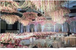 Nuovo arrivo elegante Hydangea fiore di seta Vine casa parete appeso glicine Ghirlanda 14 colori disponibili per la decorazione di Natale di nozze