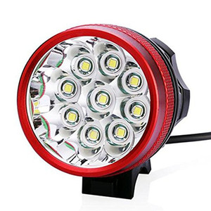 15000LM 9x CREE XM-L T6 LED Cycling Bike Bicycle Head Light Lamp Headlight Rechargeable 8x 18650 Battery