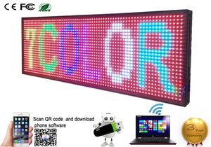 """LED programmabile elettronico P13 RGB COLOR OUTDOOR Sign Display LED 39 """"X 14"""" USB + Phone WIFI Control Open Running Message Board Display"""