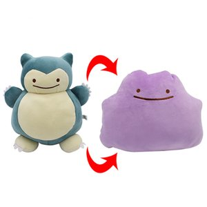 "Hot New 11"" 28CM Ditto Plush Doll Snorlax #C Inside-Out Cushion Anime Collectible Stuffed Dolls Gifts Soft Toys"