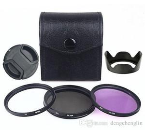 49mm, 52mm, 55mm, 58mm, 62mm, 67mm, 72mm, 77mm, 82mm UV+CPL+FLD Circular Filter Kit Polarizer Filter Fluorescent Filter