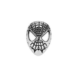 Superhero Spider-Man Máscara Dicas Filme Jóias Os Vingadores de Prata Banhado Emblema Broche Pin Presentes de Natal