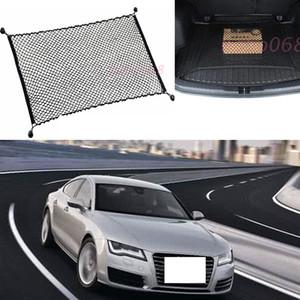 Para Audi A7 Carro Auto Traseira Tronco Organizador De Carga De Armazenamento Assento Liso Vertical Net Organizador De Bagagem Nylon Liner Capa