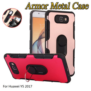 Custodia in metallo Heavy Duty Armor per Huawei Nova 3 3i Y5 2017 Y5 2018 Y5 Prime 2018 Custodia in silicone TPU morbido per cavalletto