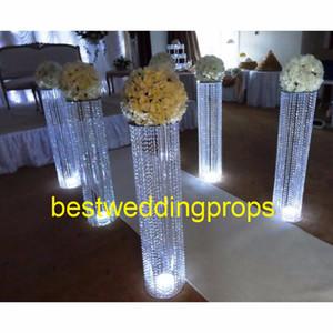 Pilares de cristal del pasillo de la boda del nuevo estilo Soporte de la pasarela de la boda Pieza central para la decoración de la boda del partido de Navidad best0146