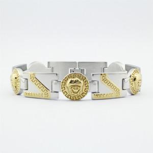 316L Edelstahl Medusa Kopf Mann Armband vergoldet geprägte hochwertige Armreif Weihnachtsgeschenk versandkostenfrei Armbänder
