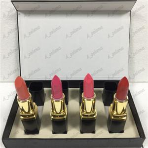 Популярный бренд макияж губ матовая помада 4 цвета черная трубка матовая помада 4 шт. / Установить бесплатная доставка