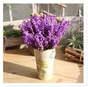 LIN MAN زهرة اصطناعية 43 سم جميلة لافندر PE زهور الزفاف ديكور المنزل 5 الألوان المتاحة