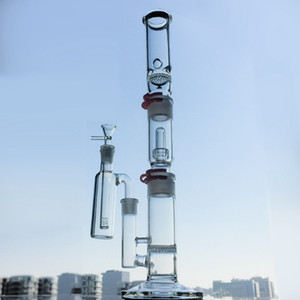 Big Glass Bong Ash Catcher Dab Oil Rigs Straight Perc Build a Bong Ice Pinch Water Pipes Plastic Keck Bongs WP522