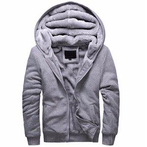 Neue Winter Verdicken Hoodie Männer Reißverschluss Mit Kapuze Mantel Marke Herren Trainingsanzug Sweatshirt Einfarbig Dick Warm Plus Size Hoodies