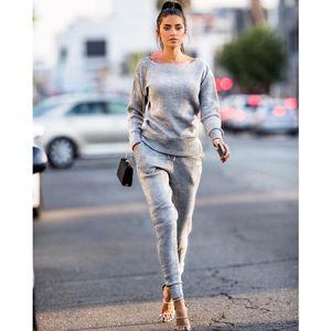 2 pezzi Tuta da donna Set T-shirt Top + Pantaloni sportivi Tute Donna 2 Pezzi Set Donna Casual Felpe Abbigliamento