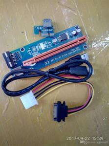 PCIe PCI-E PCI Express Riser Card 1x to 16x USB 3.0 Data Cable SATA to 4Pin IDE Molex Power Supply for BTC Miner Machine