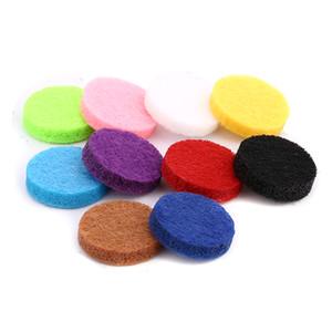15mm Felt Pads Colorful Oil Pad para 22mm Aromatherapy botones a presión Perfume de Aceite Esencial Difusor Locket botón a presión Accesorios de la joyería