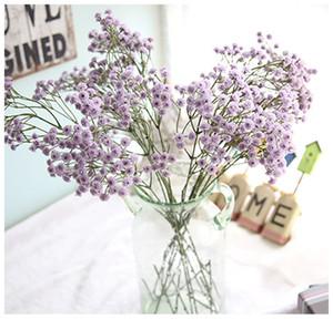 Yapay Çiçekler Gypsophila Toptan Düğün Çiçekler Ipek Tek Gerçek Dokunmatik PU Ev Partisi Oturma Odası Dekoratif Çiçek Çelenkler