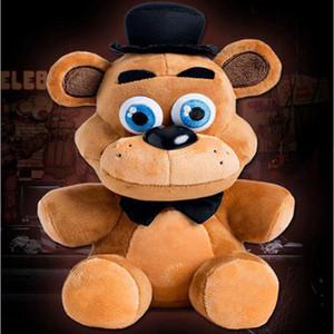 "1pc 25cm Freddy Ayı 9.8"" Beş Nights At Freddys Fnaf Freddy Foxy Bonnie Chica Çocuk Oyuncakları Hayvanlar Peluş Bebekler Doldurulmuş Hayvanlar"