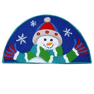 Hand Hooked soft welcome home door mats for entrance door cute snowman merry Christmas pattern mats water absorption carpet door rugs