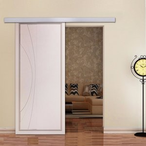 انزلاق الأجهزة باب الحظيرة 6.6ft سبائك الألومنيوم الحديثة انزلاق الأجهزة باب الحظيرة للأبواب خزانة الداخلية