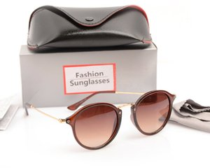 New Arrival Sun glasses Brand Designer Retro Eyewear 2447 style Round gradient mirror Sunglasses Unisex Acetate Plate Lens with case and box