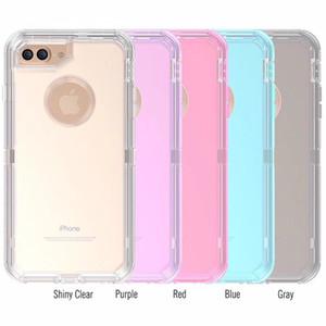 Per iPhone 8 Caso Inoltre Heavy Duty 3in1 Defender casse del telefono antiurto trasparente Protector con spina della polvere per iPhone 11 pro max