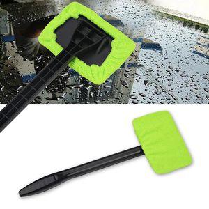 2xAuto Window Cleaner Windshield Windscreen Microfiber Car Wash Brush Dust Long Handle Car Cleaning Tool Car Care Glass Towel