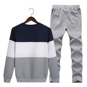 Homens casuais Set 2 Peças Set Suor Camisas Dos Homens Ternos Mens Design Treino Conjuntos Plus Size 4XL