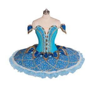 Adultos Ballet Profesional Tutus Blue Bird Performance Tutu Disfraz Raymonda Platter Pancake Ballet Tutu Falda BT9061